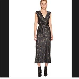 Vince dark gray silk wrap dress size S, $400 new